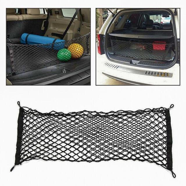 90x 40cm Trunk Cargo Net Bungee Hook Elasticated Luggage