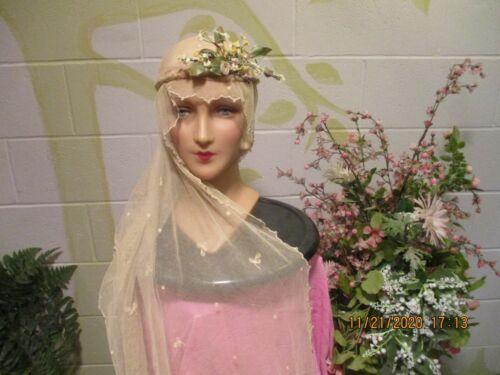 Antique Victorian Era Handmade Belgium Lace Bridal