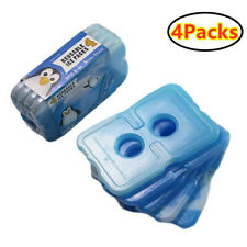 4Pc Insulated Reusable Dry Cold Ice Pack Gel Cooler Bag For Lunch Box Food