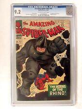 Marvel Comics Amazing Spider-Man #41 (1966) Key 1st App. Rhino CGC 9.2 BP622