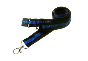 THIN-BLUE-LINE-Memorial-Lanyard-Neck-ID-Card-Key-Holder-police-sheriff-trooper