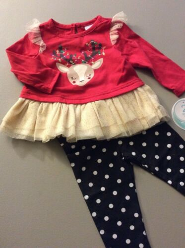 By Baby Nannette Christmas Outfit For Your 6-9 Month Little Girl NEW WITH TAGS