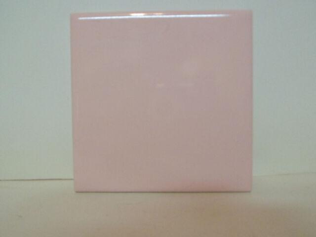 "NOS Retro 1950s Gloss Pink 4 3//8/"" by 4 3//8/"" Florida Tile Co Tile"