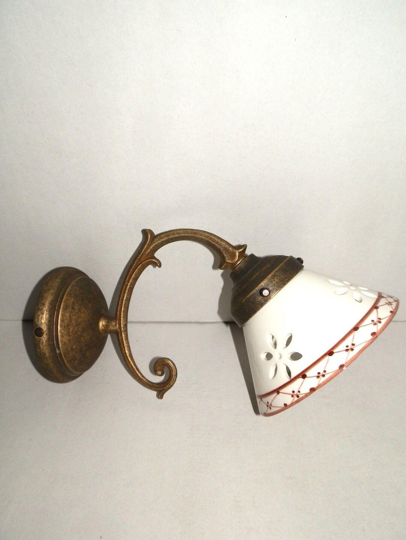 Applique lampe en laiton liberty o baroque maison bureau hotel CÉRAMIQUE BRUN