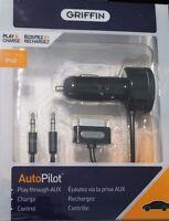 Griffin Autopilot Control Car Charger W/aux Cable For Iphone 4 / 4s
