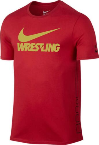 Men/'s Original T-Shirt Nike Elite GOLD Wrestling Training Shirt S-XL