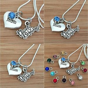 Image Is Loading Personalised Happy Birthday Gift Necklace For Mum Sister