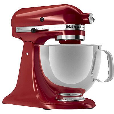 KitchenAid Empire Red Artisan 5-Quart Stand Mixer KSM150PSER Works Worldwide