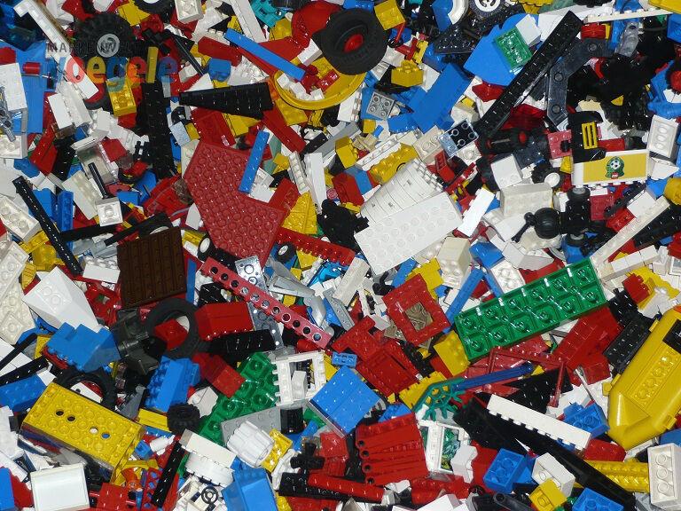 1 kg Lego Environ 700 Pièces Articles au Kilo,Pierres,Plaques,Roues ,Etc. K15