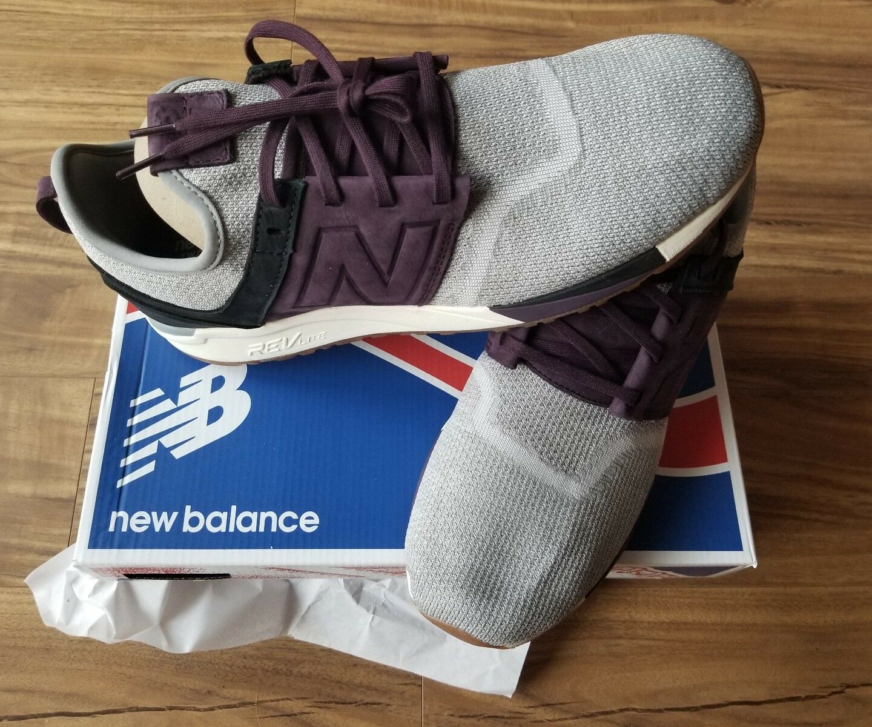 New Balance 247 Luxe in Grey/Black/Burgundy/Purple MRL247LM Men's Size 12