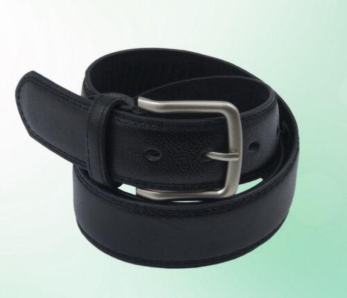 Herren Gürtel Schwarz 3,7 cm Klassisch 105  cm