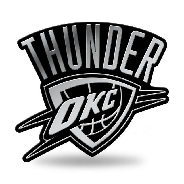 Oklahoma city thunder logo 3d chrome auto decal sticker new truck car rico