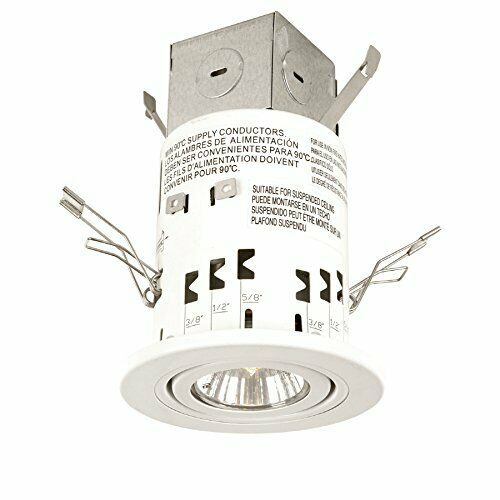 3 inch White New In Box 3000k Utilitech LED Recessed Gimbal Remodel Kit