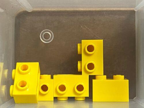LEGO Parts QTY 5 No 11211 Yellow Brick 1 x 2 w Studs on 1 Side