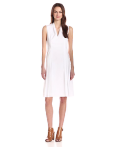 Elie Tahari Women's Jessy Cotton Poplin Pleated Pleated Pleated Dress Size US 10 New 5f12c7