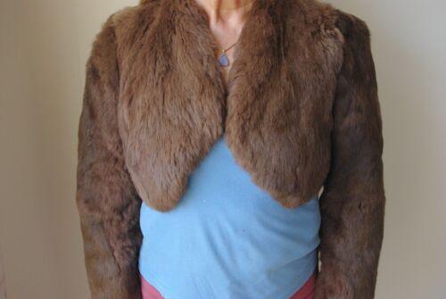 Fox Fur maat or Mink Waarschijnlijk Jacket 14 12 Bolero Style S4wSzq6