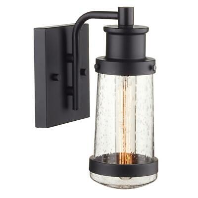 Globe Electric Bennett 1 Light Matte Black Outdoor Wall Lantern Sconce 44315 Ebay