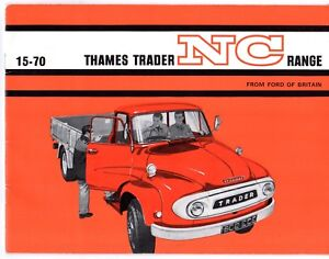 Details About Ford Thames Trader Nc Truck 1964 65 Uk Market Sales Brochure