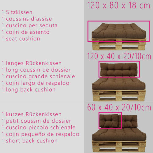 Pallet Cushions Euro Palette Cushion Outdoor Sofa Edition Seat Pad Seat Pad