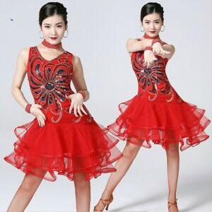 8acb8fde5a0ad Women Latin Dance Dress Salsa Cha Cha Tango Ballroom Modern Rumba ...