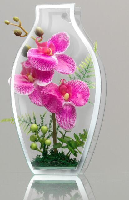 Ritzenhoff Breker 28cm Trendy Mirror Vase With Dried Flowers Orchids