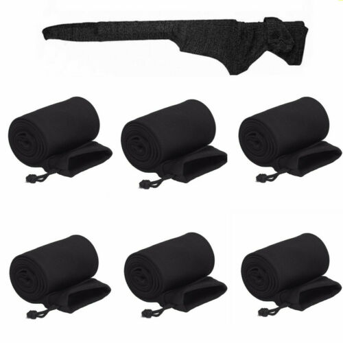 """Details about  /6Pcs 14//55/"""" RIFLE SLEEVE Silicone Treated Sock Pistol Gun Case Storage Pouch Bag"""