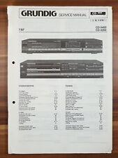 Schaltbild Grundig Service Manual CD8400 CD8200