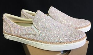 cec5199f854 Details about Ugg Australia Adley Chunky Glitter Powder Slip On Shoes  1091489 Sneakers Womens