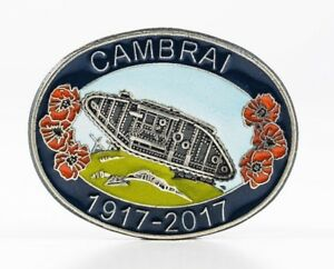 WW1 1917-2017 BATTLE OF CAMBRAI WILD POPPY DESIGN ENAMEL BADGE XOAiaKmi-09155945-801073490