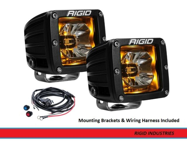 rigid industries radiance back-light pods w/ multi-switch wiring harness  (amber
