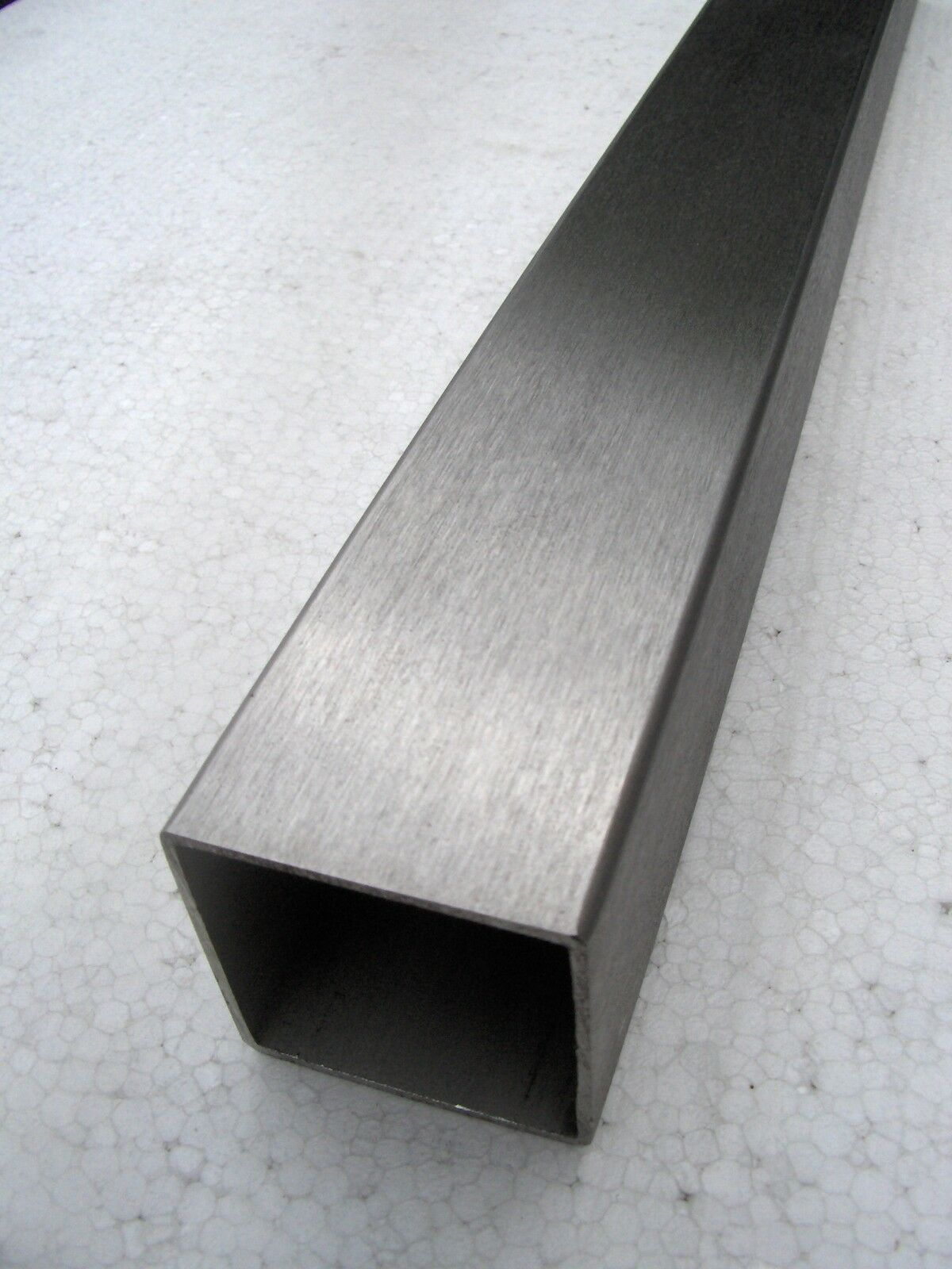 Acier inoxydable-tête carrée-tube-quadratrohr v2a 25 25 25 x 25 x 2,0 L = 1000 mm taillé k240 642c32