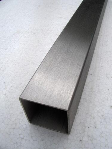 Edelstahl-Vierkant-Rohr V2A 20 x 20 x 2,0 L=1000 mm geschliffen K240