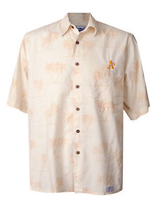 8109d3d2 Men's Reyn Spooner Oakland A's Hawaiian Shirt Athletics MLB Baseball ...