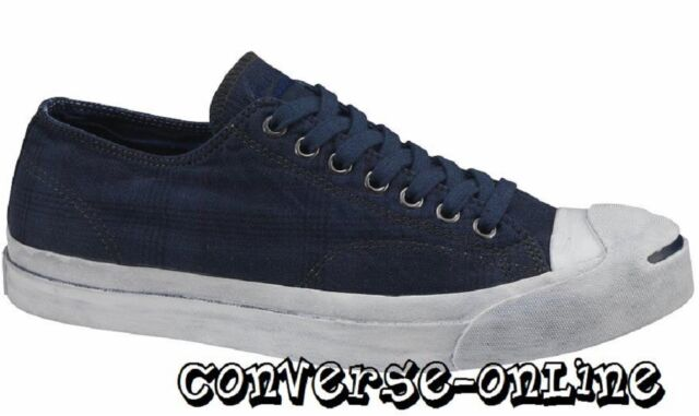 31a6cb4857ade3 Men s CONVERSE JACK PURCEL Blue GARMENT DYE PLAID Low Trainers Shoes UK SIZE  12