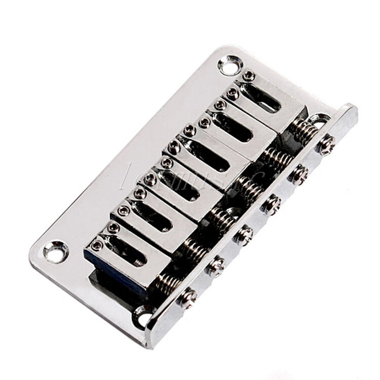 5 fixed hardtail hard tail bridge for 6 string electric guitar parts top load ebay. Black Bedroom Furniture Sets. Home Design Ideas