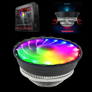 RGB-Color-CPU-Cooler-LED-Air-Heatsink-Intel-AMD-PC-Processor-Desktop-Cooling-Fan
