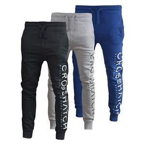 Para-Hombre-Pantalones-Basculador-Crosshatch-shacka-Flaca-Delgada-Chandal-Correr-Pantalones