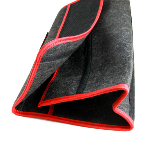 2 x Car Care Protection Tidy Organiser Red Trim Storage Boot Bags with Pockets