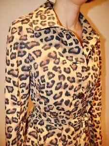 estivo Whistles cinturino stampa con coat Uk leopardo rosa 8 con Trench qfEf6H