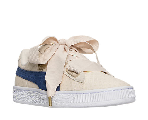 AUTHENTIC Puma Basket Heart Denim Oatmeal Twilight Bleu 36337103 003 femmes Taille
