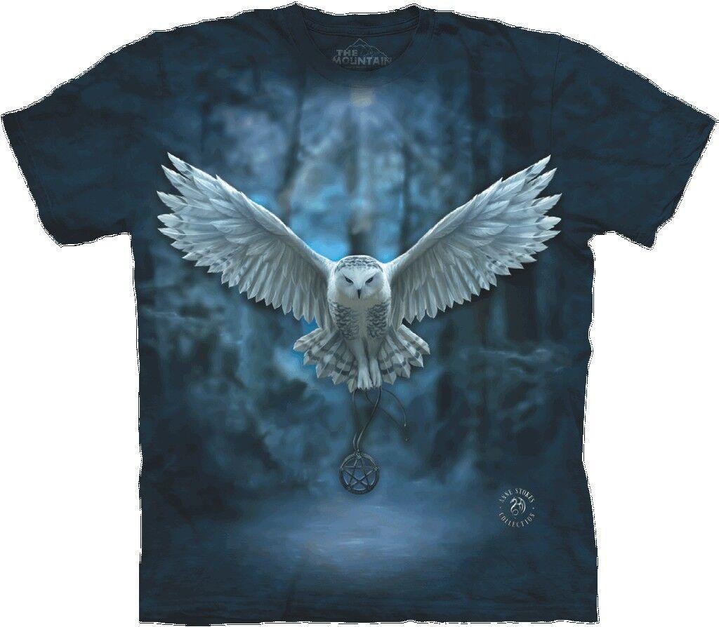 S - 3XL The Mountain Erwachsenen T-Shirt Anne Stokes Schnee-Eule & Pentagramm   | Helle Farben  | Erste Kunden Eine Vollständige Palette Von Spezifikationen  | Die Farbe ist sehr auffällig