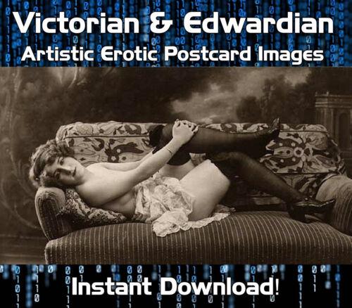 VICTORIAN /& EDWARDIAN ARTISTIC RISQUE EROTIC POSTCARD IMAGES 16,000 DOWNLOAD