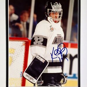 Kelly-Hrudey-Goalie-Original-Autograph-Los-Angeles-Kings