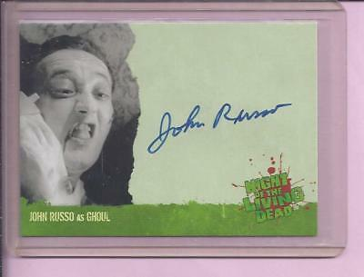 Night Of The Living Dead Autograph Trading Card A4 John Russo