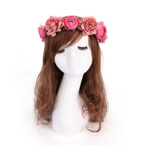 Women Boho Flower Floral Hairband Headband Crown Party Bride Wedding BeachVst YJ