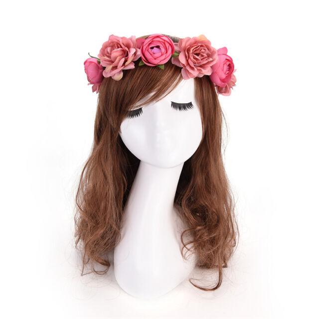 Lady Girl Boho Blume Blumen Haarband Stirnband Krone Braut Hochzeit Strand