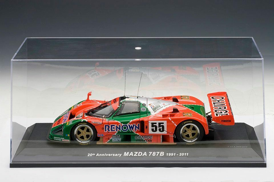 1991 MAZDA 787B LeMANS LeMANS LeMANS TEST CAR  18 by AUTOART NEW WITH DISPLAY CASE f74984