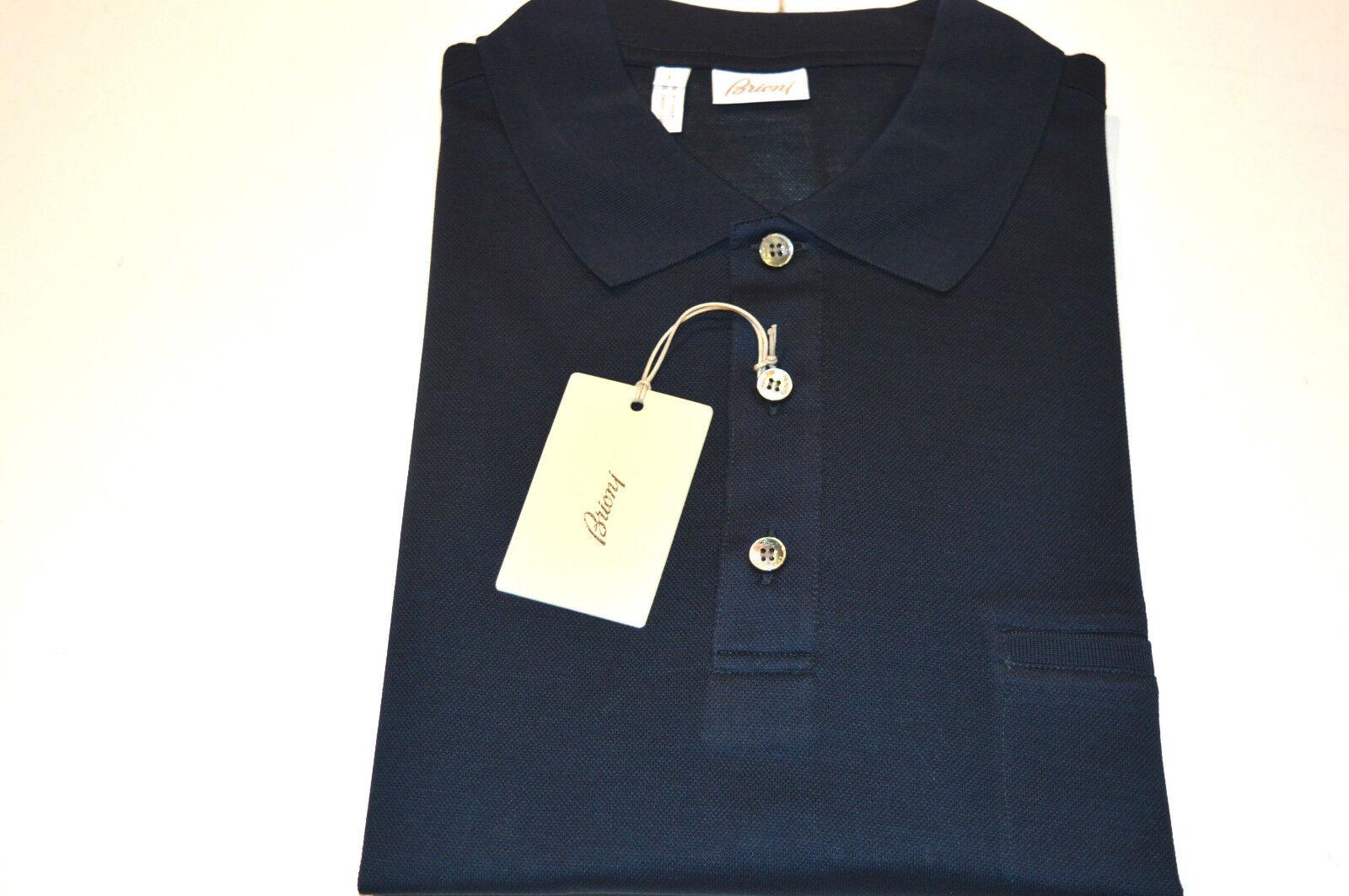 NEW  BRIONI Polo  Short Sleeve Cotton Größe L Us Eu 52 (Intarsi 2)