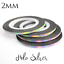 2mm-HOLO-SILVER-Nail-Art-Holographic-Striping-Tape-Line-Sticker-Roll-Rainbow thumbnail 1