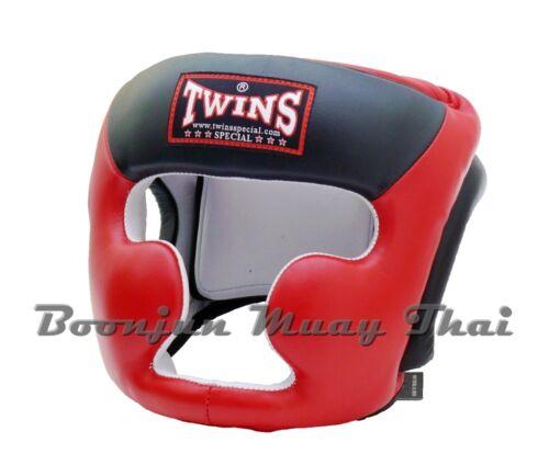 NWT Twins Special Muay Thai Head Guard Kick Boxing Headgear Black Red White Blue